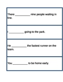 Subject-Verb Agreement Match-Up Activity