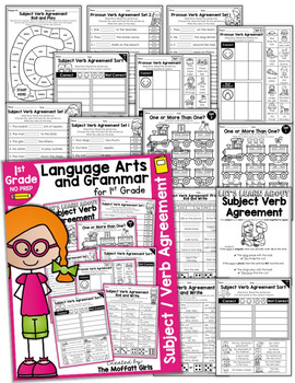 Subject Verb Agreement NO PREP Packet