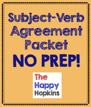 Subject/Verb Agreement NO PREP Packet
