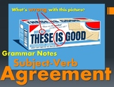 Subject-Verb Agreement Notes & Powerpoint
