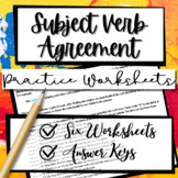 Subject Verb Agreement Writing Practice Worksheets