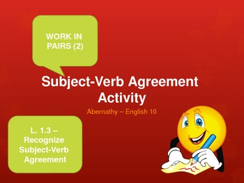 Subject-Verb Agreement PPT Activity