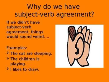 Subject Verb Agreement PTA Skills Bundle