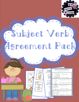 Subject Verb Agreement Pack with a Homework Assignment