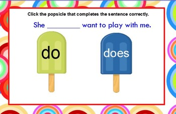 Subject Verb Agreement Popsicles