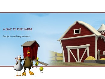 Subject Verb Agreement PowerPoint (Farm Theme)