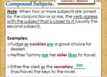 Subject Verb Agreement PowerPoint and Worksheet Bundle