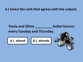 Subject-Verb Agreement Practice PowerPoint