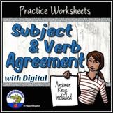 Subject Verb Agreement Grammar Worksheets Easel Activity D