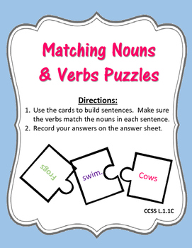 Subject Verb Agreement Puzzles