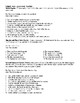 Subject Verb Agreement Reference Sheet & Practice
