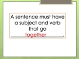 Subject Verb Agreement Reteach PPT