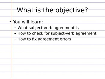 Subject-Verb Agreement Review Lesson