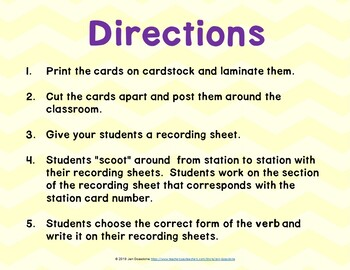 Subject-Verb Agreement Grammar SCOOT or Task Cards
