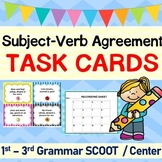 Subject-Verb Agreement Grammar Task Cards/ SCOOT Game/ Center