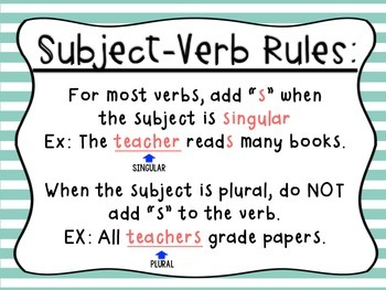 St anns school 3a subject verb agreement image result for subject verb agreement platinumwayz