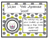 Subject Verb Agreement Scoot for Third Grade