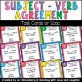 Subject-Verb Agreement Scoot or Task Cards