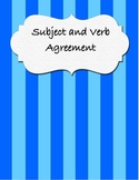 Subject- Verb Agreement Sentence Sort and Practice