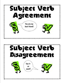 Subject Verb Agreement Sentence Sort