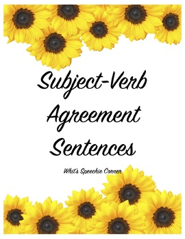 Subject-Verb Agreement Sentences