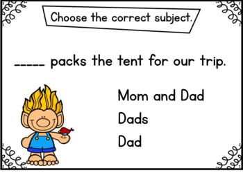 Subject Verb Agreement Set 2 BOOM Cards {Digital Task Cards}