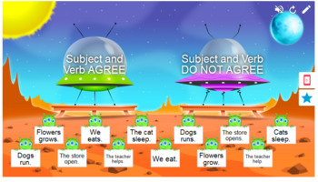Subject Verb Agreement Smart Lab Interactive Whiteboard Activities