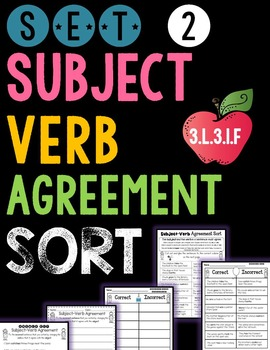 Subject Verb Agreement - Set 2
