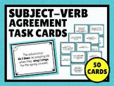 Subject-Verb Agreement TASK CARDS (set of 50)