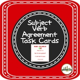 Subject Verb Agreement Task Cards