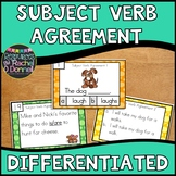 Subject Verb Agreement Task Cards Differentiated