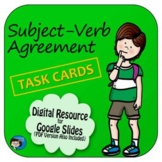 Subject-Verb Agreement Task Cards Digital Resource
