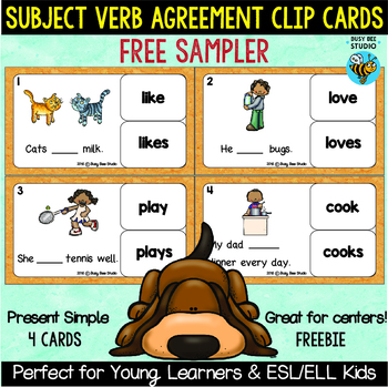 Subject Verb Agreement Freebie By Busy Bee Studio Tpt