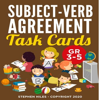 Subject-Verb Agreement Task Cards: Grades 3-5