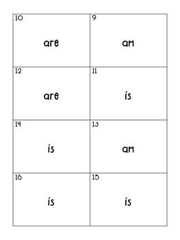 Subject-Verb Agreement Task Cards (Helping Verbs)