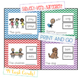 Subject Verb Agreement - Task Cards - Print and Go