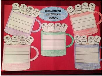 Subject-Verb Agreement Winter Hot Cocoa Craftivity, Rules,