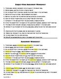 Grammar: Subject-Verb Agreement Worksheet