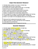 Grammar: Subject-Verb Agreement Worksheet