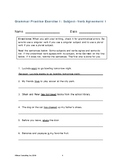 Subject Verb Agreement Worksheets 1 and 2