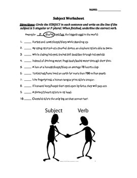 Subject Verb Agreement Worksheets