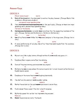 subject verb agreement worksheets high school grammar test prep gr 9 10. Black Bedroom Furniture Sets. Home Design Ideas