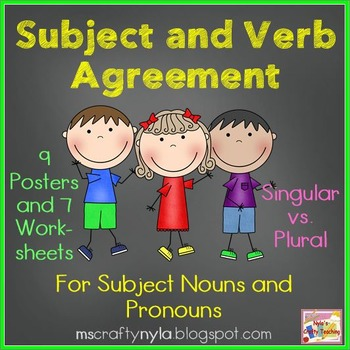Subject Verb Agreement Worksheets And Posters By Nylas Crafty Teaching