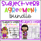 Subject Verb Agreement Worksheets and Task Cards {BUNDLE}