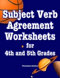Subject Verb Agreement Worksheets for 4th and 5th Grades