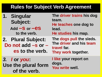 Subject-Verb Agreement for Visual Learners