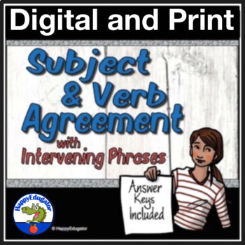 Subject Verb Agreement Grammar Worksheets With Intervening Phrases