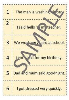 Subject Verb Clause Game