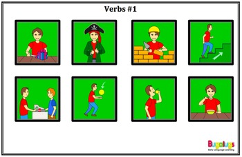 Subject Verb Object Visual Sentence Structure Package 1