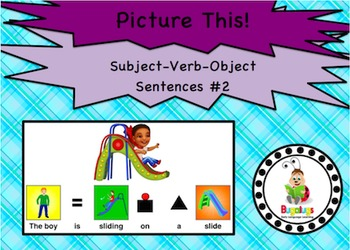 Subject Verb Object Visual Sentence Structure Package 2